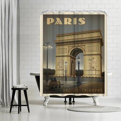 France Paris Arc De Triomphe Shower Curtain