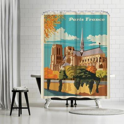 France Paris Notre Dame Shower Curtain
