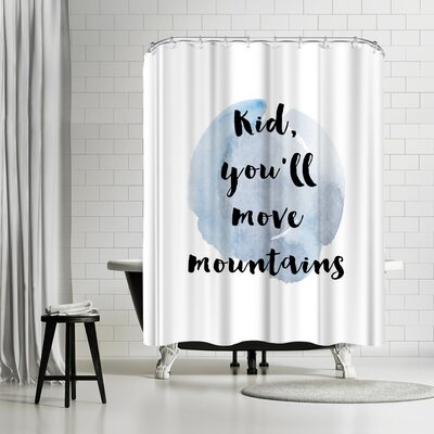 Ikonolexi Kid You Will Move Mountains Shower Curtain