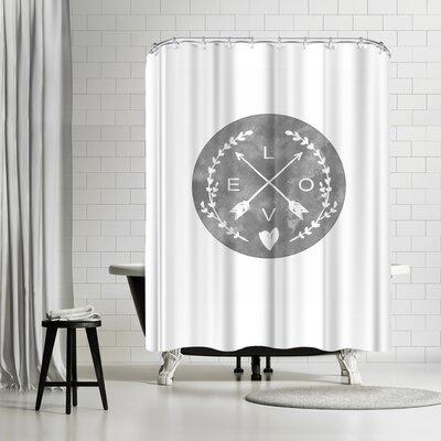 Ikonolexi Love Arrows Shower Curtain