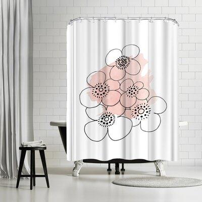 Ikonolexi Minimalist Flowers Shower Curtain