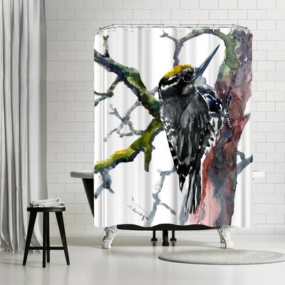 Suren Nersisyan Woodpecker Shower Curtain