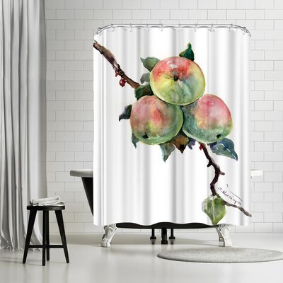 Suren Nersisyan Apples Shower Curtain
