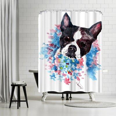 Solveig Studio Boston Terrier Shower Curtain