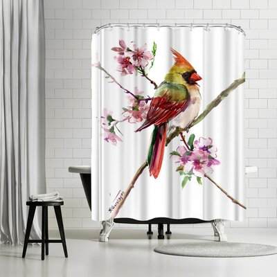 Solveig Studio Caridnal Spring Tree Shower Curtain
