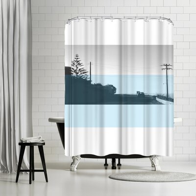 Ikonolexi Naxos Shower Curtain