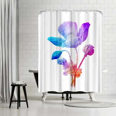 Ikonolexi Poppy Seed Flower Shower Curtain