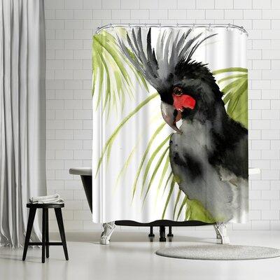 Solveig Studio Palm Cockatoo Shower Curtain