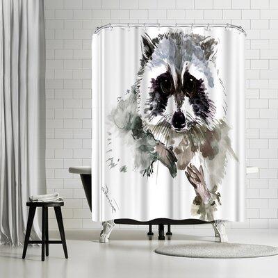 Solveig Studio Raccoon Shower Curtain