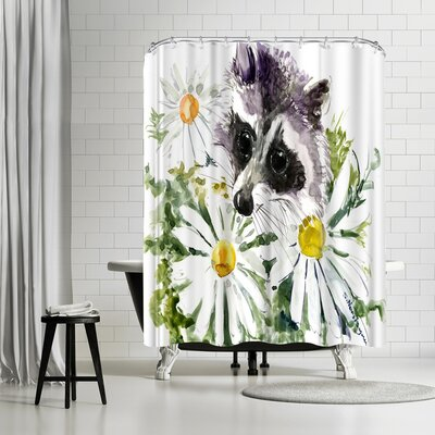 Solveig Studio Raccoon Shower Curtain