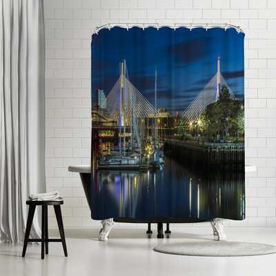 Melanie Viola Boston Bunker Hill Bridge Shower Curtain