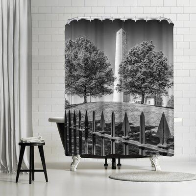 Melanie Viola Boston Bunker Hill Monument Shower Curtain
