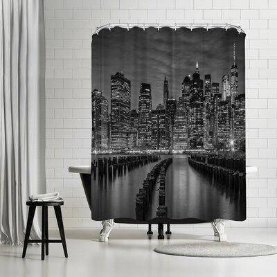 Melanie Viola Manhattan Skyline Evening Atmosphere Shower Curtain