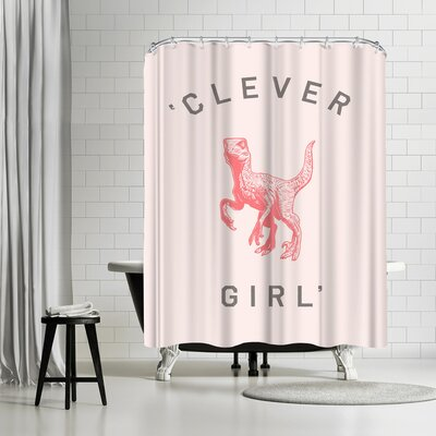 Florent Bodart Clever Girl Pink Shower Curtain