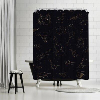Florent Bodart Heavens Music Shower Curtain