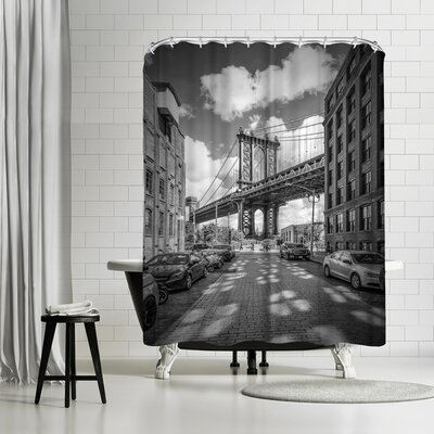 Melanie Viola New York City Manhattan Bridge Shower Curtain