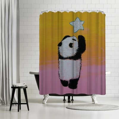Michael Creese Baby Panda Star Shower Curtain