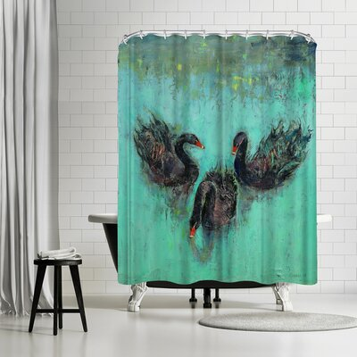 Michael Creese Swans Shower Curtain