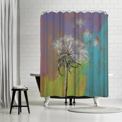 Michael Creese Dandelion Shower Curtain