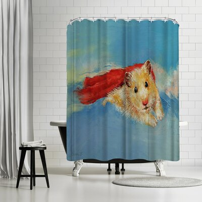Michael Creese Hamster Superhero Shower Curtain