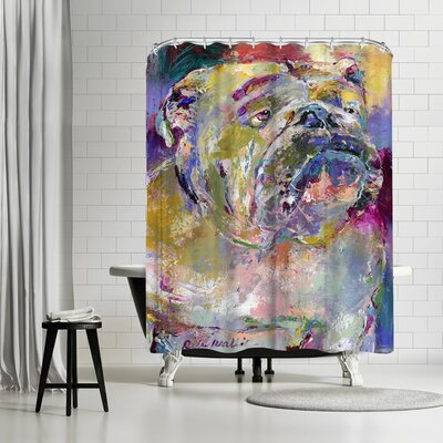 Richard Wallich Bulldog Shower Curtain