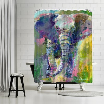 Richard Wallich Elephant Shower Curtain