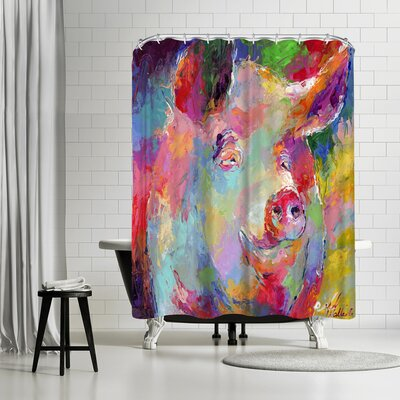 Richard Wallich Pig Shower Curtain