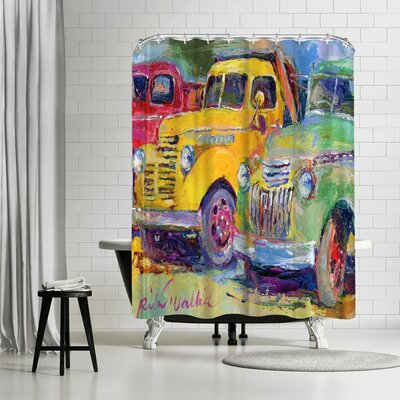 Richard Wallich Trucks Shower Curtain