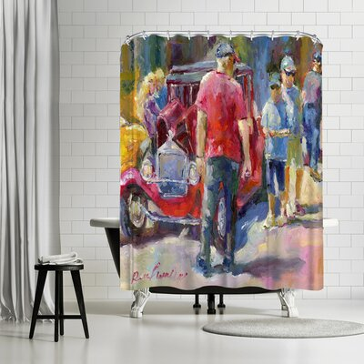 Richard Wallich Hotrods Shower Curtain