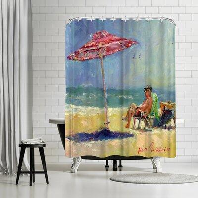 Richard Wallich Maderabeach Shower Curtain