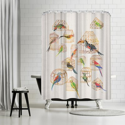 David Fleck Architectural Aviary Shower Curtain