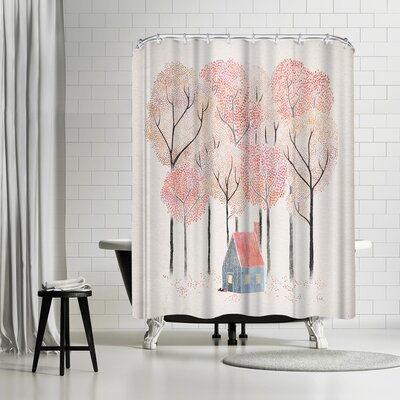 David Fleck Cabin Shower Curtain