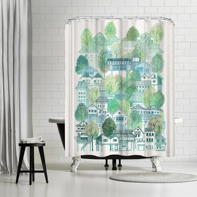 David Fleck Cambodian Village Shower Curtain