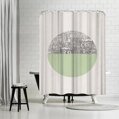 David Fleck Circle Shower Curtain