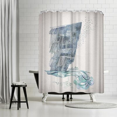 David Fleck Cliffs Shower Curtain