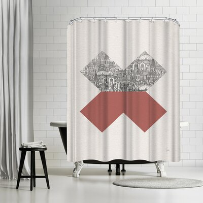 David Fleck Cross Shower Curtain