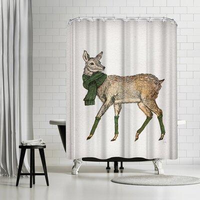 David Fleck Deer Shower Curtain