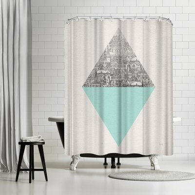 David Fleck Diamond Shower Curtain