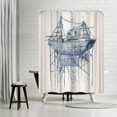 David Fleck Dry Dock Shower Curtain