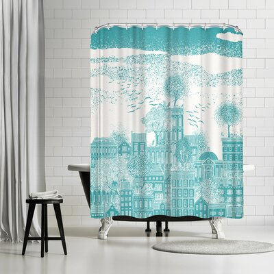 David Fleck Earth Shower Curtain