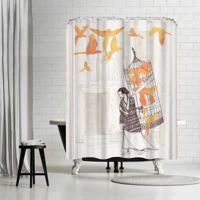 David Fleck Frida Shower Curtain