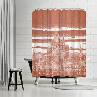 David Fleck Jupiter Shower Curtain