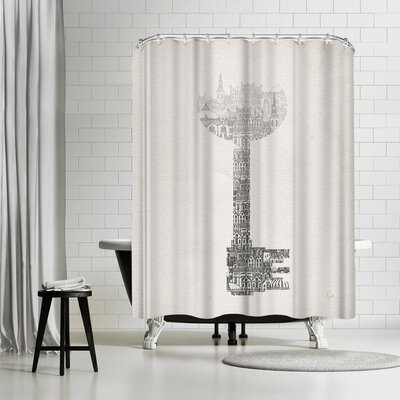 David Fleck Key Shower Curtain