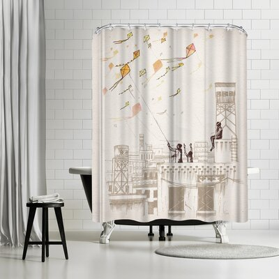 David Fleck Komal Shower Curtain