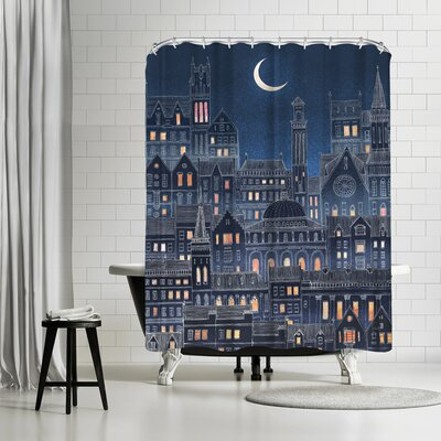 David Fleck Luna Shower Curtain