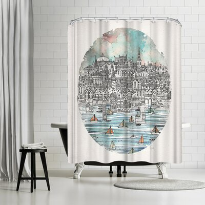 David Fleck Opal Shower Curtain