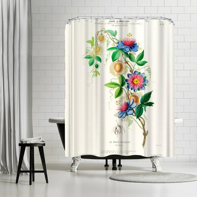 New York Botanical Garden Flored Amerique Lamarie Gougeat Shower Curtain
