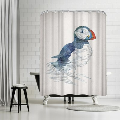David Fleck Puffin Shower Curtain
