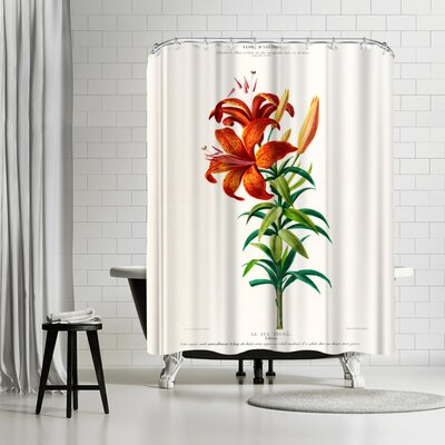 New York Botanical Garden Flored Amerique Lelystigre Shower Curtain