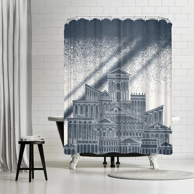 David Fleck Saturn Shower Curtain